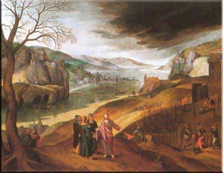 170314 Photo de tableau peintre flamand représentant le mois de mars