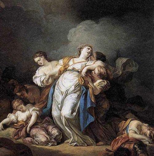 170318 Photo tableau - Les enfants de Niobé tués par Appolon et DIane 1772 d'Anicet Charles Gabriel Lemonnier 1743-1824
