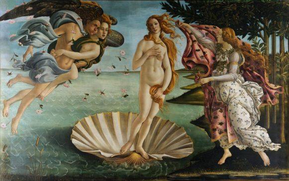 170321 Le Renouveau - Tableau Sandro Botticelli 1445-1510 - La Naissance de Vénus 1485