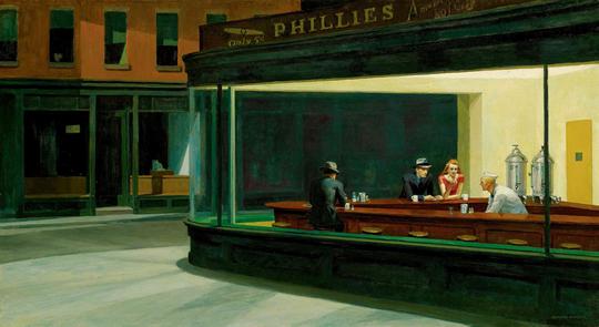 170327 Les Noctambules tableau d'Edward Hopper