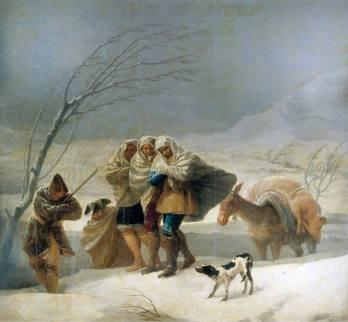 Photo tableau Goya - Tempête de neige