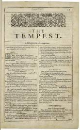 Photo the Tempest de Sheakespeare