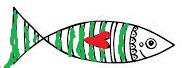 170401 Poisson d'avril peint rouge et vert