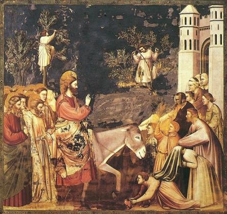 170409 Giotto_-_Scrovegni_-_-26-_-_Entry_into_Jerusalem2 - Fête des rameaux