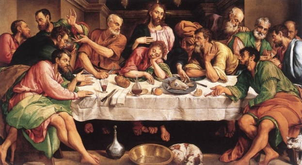170413 Jeudi Saint - La dernière cène de Jacapo Bassano