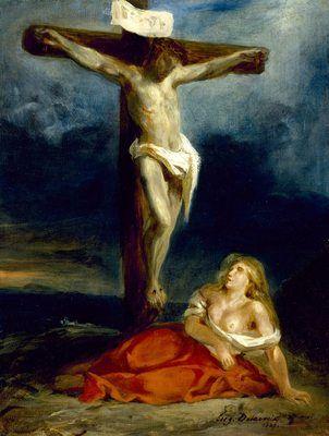 170414 Vendredi Saint - Eugène Delacroix - Marie Madeleine au pied de la croix