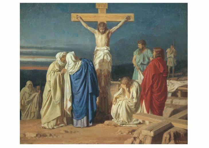 170414 Vendredi Saint - Jésus en croix et les femmes à ses pieds