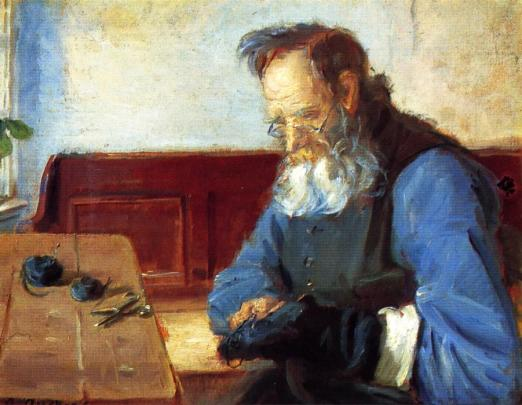 170418 La Reprise Anna-Ancher-A-Man-Mending-Socks.JPG