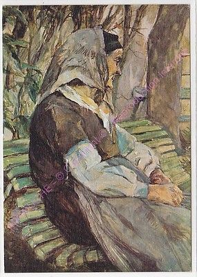 170420 Toulouse Lautrec - Vieille femme assise sur un banc à Céléyran