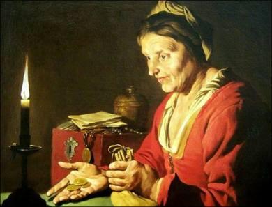 170422 L'Avarice ou La Femme à la pièce Mathias Stomet - 1600-1650 - Musée de Grenoble