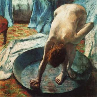 170422 Woman-in-the-bathtub - Femme dans la baignoire - Edgar Degas