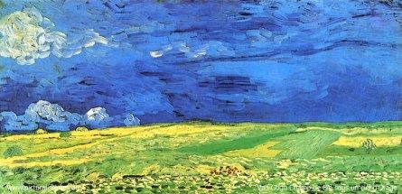170423 Ciel - Champ de blé sous un ciel d'orage - Vincent Van Gogh