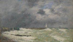 170423 Ciel - Coup de vent à Frascatti - Le Havre - Eugène Boudin