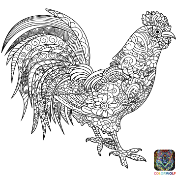 170503 Coloriage - Coq