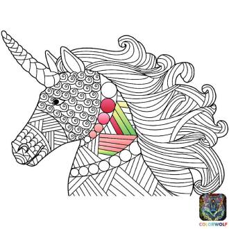 170503 Coloriage - Licorne 1