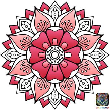 170503 Coloriage - Mandala