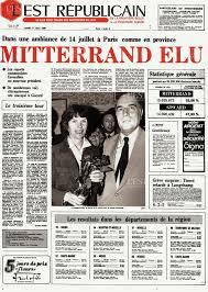 170510 Mitterrand élu président de la République - Journal l'Est républicain