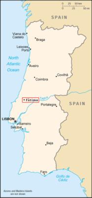 170513 Fatima - Carte du Portugal