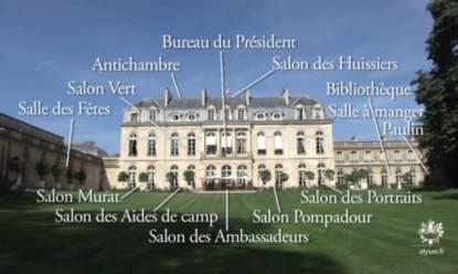170515 Le palais de l'Elysée détail emplacement des pièces