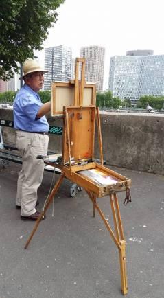 170523 Le peintre du Pont Mirabeau le 23-05-17