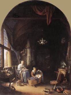 170528 La Jeune Mère 1658 - Gerrit Dou 1613-1675 - La Haye - Mauritshuis-