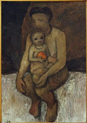 P.Modersohn-Becker, Mutter und Kind - P.Modersohn-Becker / Mother and Child -