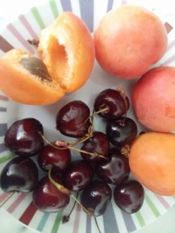 170705 La valse des fruits - cerises et abricot
