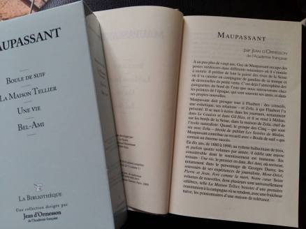 170706 Guy de Maupassant 1ère de couverture - Intro d'Ormesson
