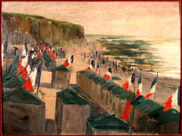 170714 GUERARD-Henri-Charles-14-juillet-sur-une-plage-normande