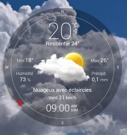 170730 Le vent souffle - températures à 9H00