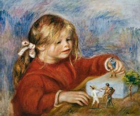 171023 Claude Renoir, jouant peint par son père