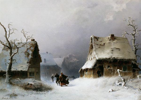171201 Friedrich de Leuw - Tempête de neige surgissant