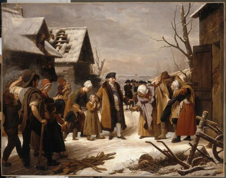 171221 Louis XVI distribuant l'aumone en hiver